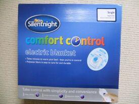 Silentnight single Electric blanket - brand new.