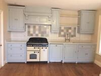 Hand built painted kitchen for sale including granite top