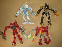 LEGO Bionicles - bundle - 4 figures that shoot bullets