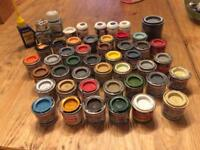 Job lot of enamel paint for figurines