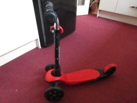 Zycom zing red scooter age 3 +
