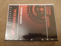 HONDA CBR500R CBR500F CBR500X Factory Workshop manual
