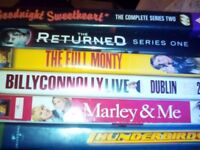 Mixture of dvds 50 p each or all for £10