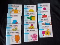 COMPLETE SET OF 12 MR MEN BOOKS