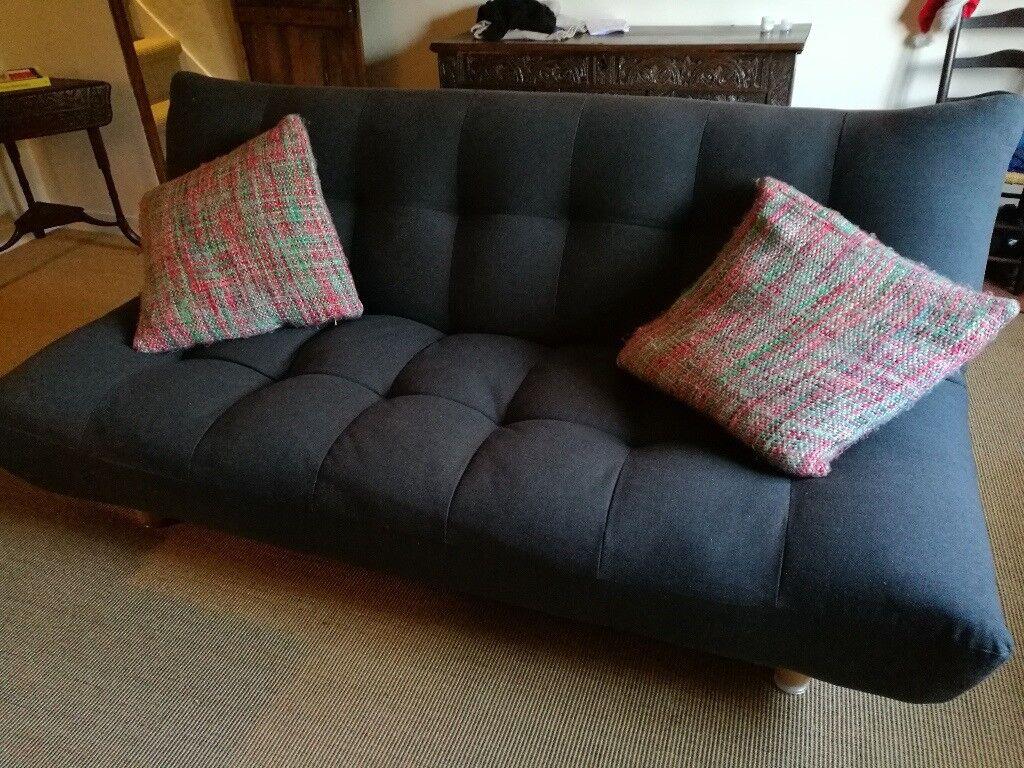 Habitat Kota Charcoal 3 Seater Sofa Bed