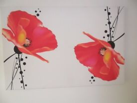 Large Poppies Canvas