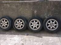 4x100 mx5 mk1 enkei alloy wheels