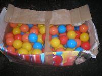 Big box of balls for ball pool.
