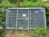 Used Heras fencing, gate, feet and clips