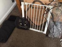 Stair Gate, Child's Car Sun Visor and Universal Rain Cover and Foot Muff