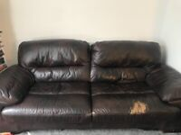 Free 3 seater and 2 seater leather sofa