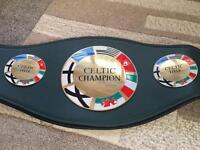 Celtic title boxing belt not gloves