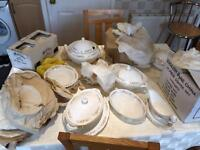 Brand new Mayfair 80+ piece fine bone china tea/dinner service