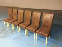 6 x dining table chairs (item 13)