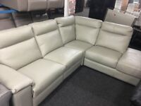 NEW / EX DISPLAY LazyBoy Grey Serento Electric Recliner Sofa (Left or Right Corner)