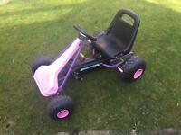 Kids pink Go Kart