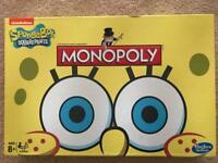 SPONGEBOB MONOPOLY BRAND NEW AND SEALED