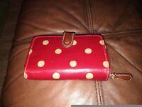 Cath Kidston red polka dot purse