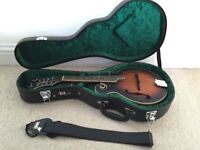 Pilgrim Redwood F Style Mandolin with case and strap