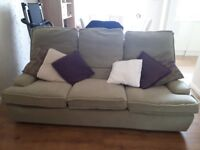 3 & 2 seater green sofa and swivel chair