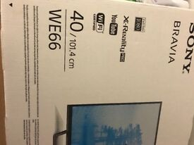 """40"""" Sony HD LED TV complete with Sony soundbar and subwoofer"""