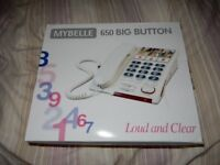 Mybelle 650 Big Button phone - as new
