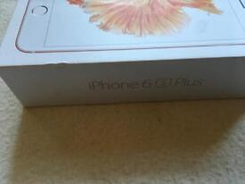 Apple iphone 6s plus rose gold 64gb Empty box only box £8
