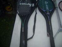 Job lot Tennis and Squash Racquets