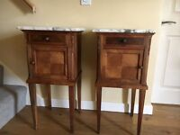 Victorian Walnut pot cupboards