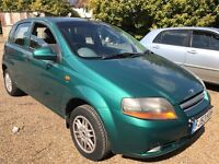 Chevrolet Kalos XTRA 1399cc Petrol 5 speed manual 5 door hatchback 53 Plate 01/09/2003 Green