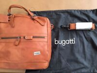 BUGATTI LEATHER HAND BAG IN COGNAC (1088)
