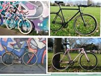 brand new single speed fixed gear bike road hybrid bicycle only £199