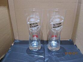 6 BRAND NEW KIRIN ICHIBAN PINT GLASSES