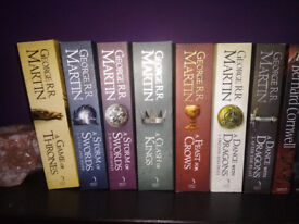 Game of Thrones 7 books (Entire series still not finished by author)