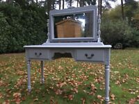 Hand painted solid pine dressing table & mirror - Jaycee Furniture