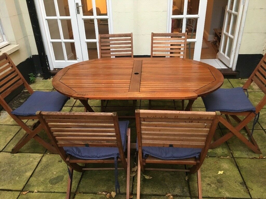 ARGOS Newbury 6 seater patio dining set with cushions and cover | in ...