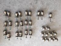 31x brushed satin chrome kitchen door knobs