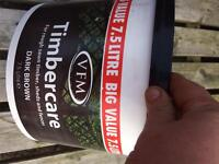 Full tin of fence paint