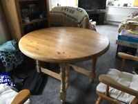 Vintage Pine Farmhouse Kitchen Table