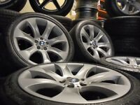 20inch staggered genuine bmw Alloy Wheels X5 7 6 X3 Series Vw T5 range rover tyres