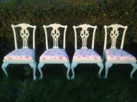 Shabby chic Cath kidston vintage dining chairs x 4