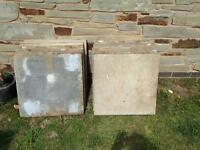 12 concrete slabs