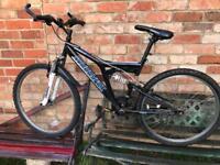 Muddy fox mountain bike full suspension