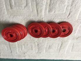 8 x Weider 1Kg weights