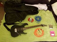 Ibanez RG 170 Gloss Black Guitar + Softcase + Accessories (3 Leads)