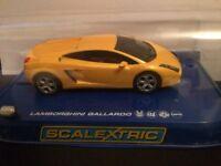 Lamborghini and Stobart Racing scalextric cars