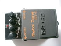 BOSS by Roland MT-2 Metal Zone stompbox/pedal/effects unit for electric guitar - Taiwan