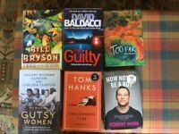 6 quality Hardback Books £4 - priced at less than 70p per book