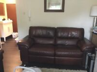 Two and three semester Leather recliner sofa