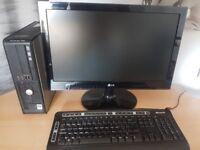 "Dell Optiplex 780 Desktop C2D E8400 3GHz 4GB 250GB DVD Monitor 22"" LG"